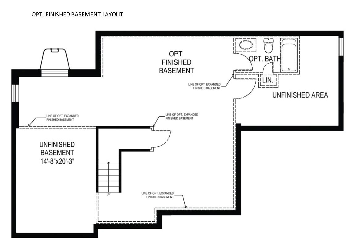 The Baldwin basement plan for new homes in Delaware