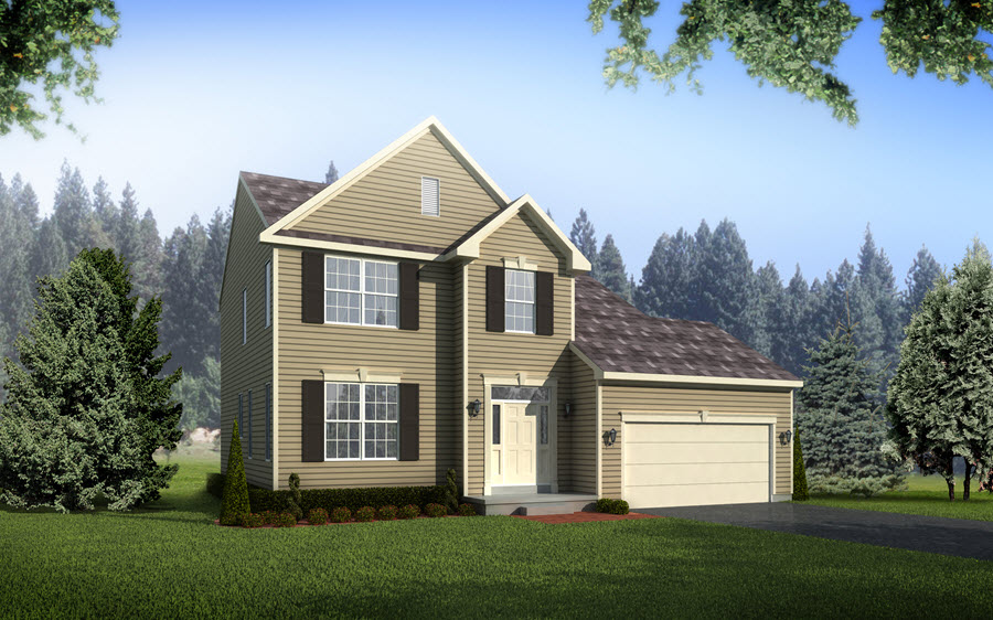 Artist's rendering of the Braeburn Chester County pa new homes for sale