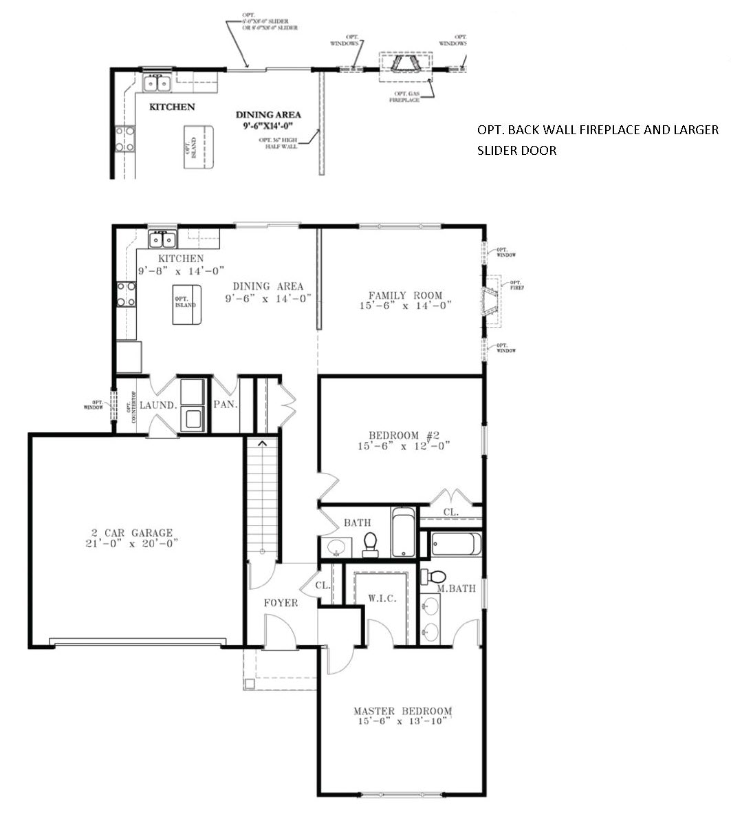 The Cameron floor plan for new homes dover