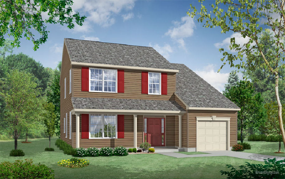 Madison plan - Dover Delaware new homes by Chetty Builders.