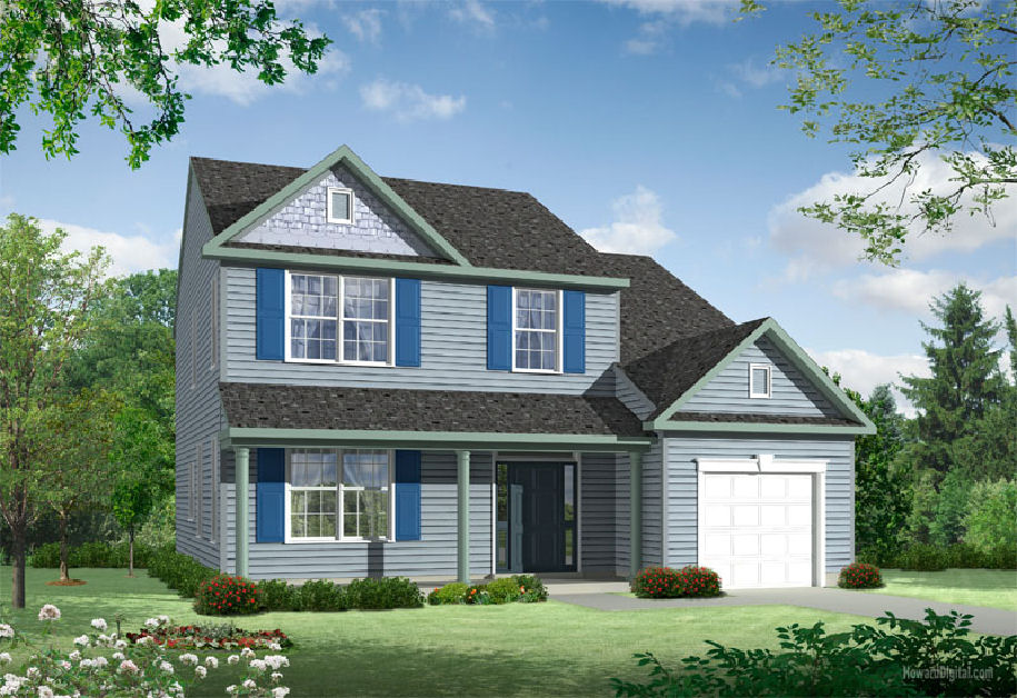 Madison eleveation for new homes Dover DE