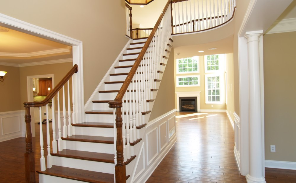 foyer view new construction homes in chester county pa chetty builders