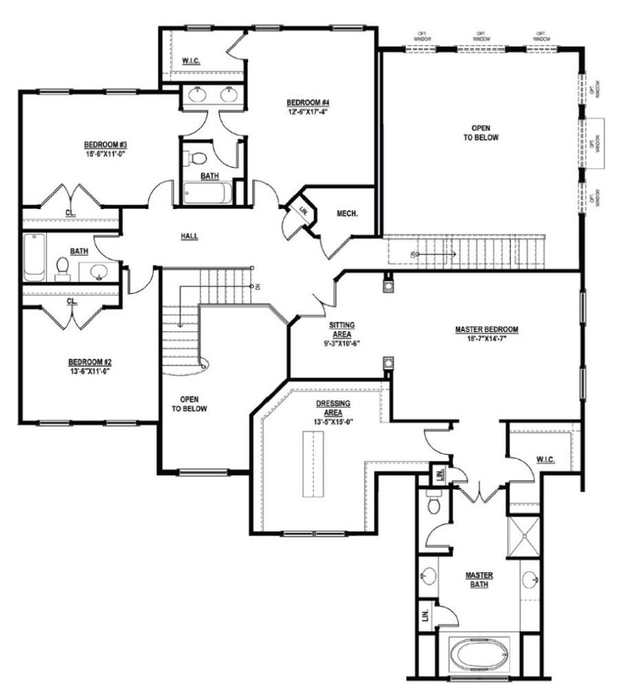 Springton floor plan from eastern pennsylvania home builder Chetty Builders