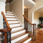 Formal staircase in new construction homes PA